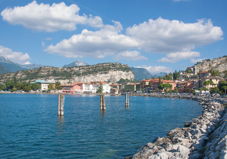 Promenade of Nago-Torbole at Lake Garda,Italy