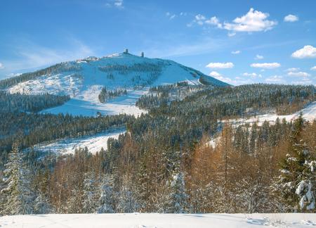 Grosser Arber Mountain in bavarian Forest,lower Bavaria,Germany Imagens