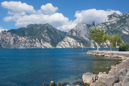 idyllic Place at Lake Garda in Nago-Torbole,Italy