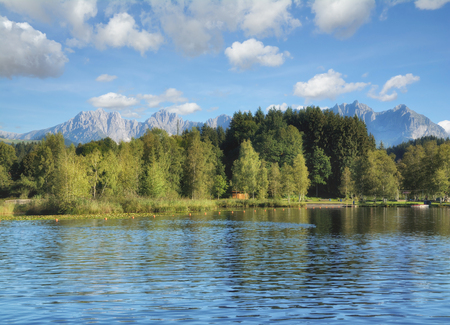 Lake Schwarzsee in Kitzbuehel,Tirol,Austria