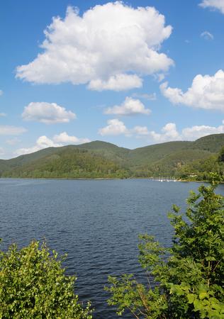 Odertalsperre Reservoir in Harz Mountain near Bad Lauterberg,lower Saxony,Germany Standard-Bild - 116307141