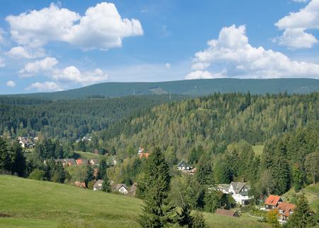Village of Altenau in Harz Mountain,lower Saxony,Germany Standard-Bild - 116884658