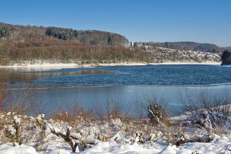 Lingese Reservoir in Sauerland,North Rhine westphalia,Germany