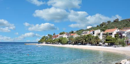 Village of Bratus at Makarska Riviera,adriatic Sea,Dalmatia region,Croatia Stock Photo