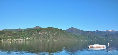 panoramic view of Lake Orta,Piedmont,Italy