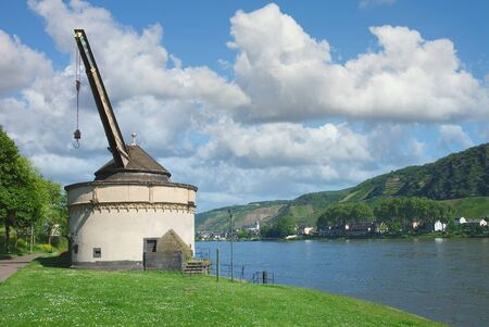 Old Crane of Andernach at Rhine River,Germany