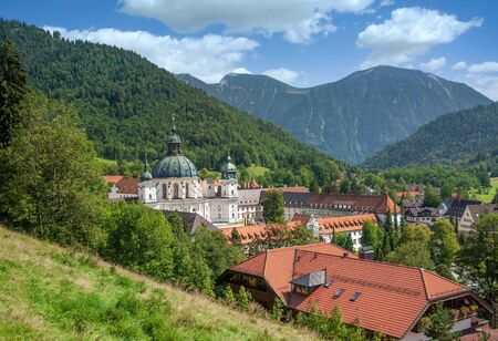Village of Ettal with famous Ettal Monastery,upper Bavaria,Germany