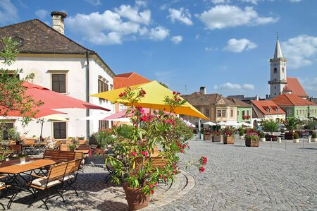 Market Place of Rust at Neusiedler See,Burgenland,Austria