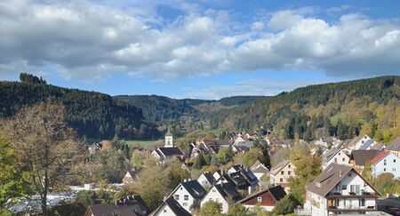 Village of Lenzkirch in Black Forest,Germany
