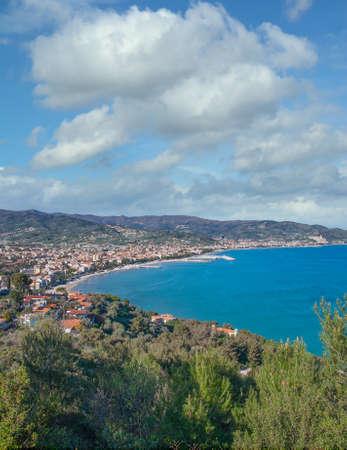 Diano Marina at italian Riviera,Liguria,Italy
