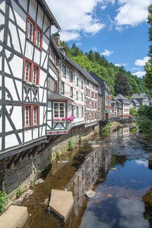 Village of Monschau in Eifel,Germany Stock Photo