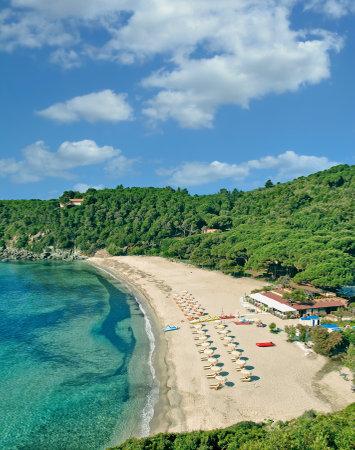 Beach of Fetovaia on Island of Elba,Tuscany,mediterranean Sea,Italy