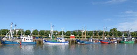 Harbor of Buesum,North Sea,North Frisia,Schleswig-Holstein,Germany