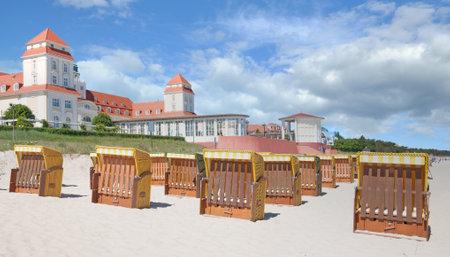 Beach and Promenade of Binz,Ruegen,baltic Sea,Mecklenburg-Vorpommern;Germany Standard-Bild