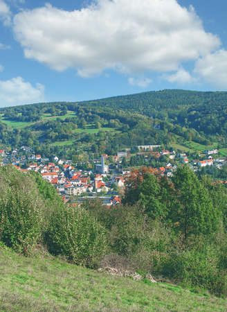 view to Health Resort of Bad Orb,Spessart,Germany