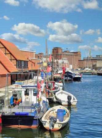 Harbor of Wismar at baltic Sea,Mecklenburg-Vorpommern,Germany