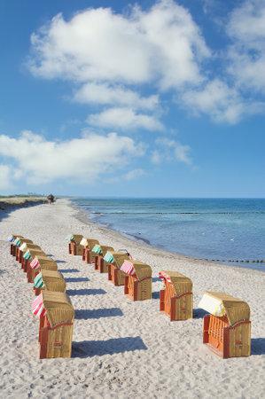 Beach of Wustrow on Fischland-Darss at baltic Sea,Mecklenburg-Vorpommern,Germany Standard-Bild