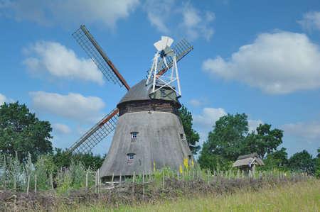 Windmill of Grebin near Malente in Holstein Switzerland,Schleswig-Holstein,Germany