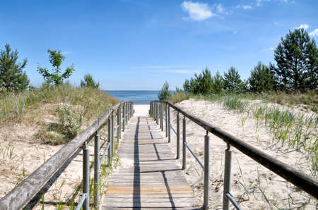 Footpath to Beach of Ahlbeck,Usedom,baltic Sea,Mecklenburg-Vorpommern,Germany