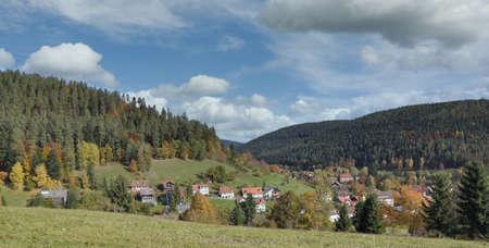 Village of Enzkloesterle in Black Forest,Germany Standard-Bild