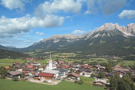 Village of Ellmau,Tirol,Austria Standard-Bild