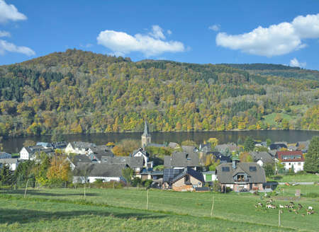 Einruhr at Rursee in the Eifel,Germany Standard-Bild