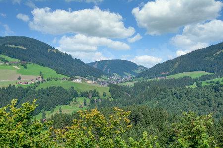 view to Oberau in Wildschonau,Tirol,Austria Standard-Bild