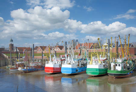 Harbor of Ditzum at North Sea,East Frisia,lower saxony,Germany