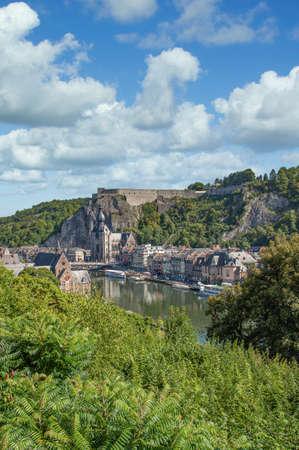 Dinant at River Meuse,Wallonia,Belgium