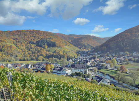 view from Red Wine Hiking Trail in Ahrtal,Germany