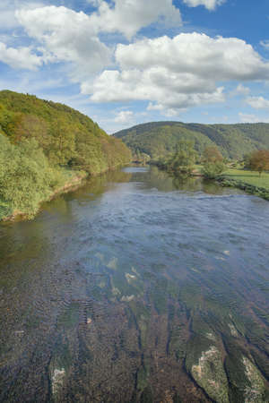 view to River Sieg,Siegerland,Germany