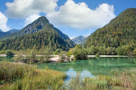 Lake Jasna near Kranjska Gora in Triglav national Park,Slovenia,