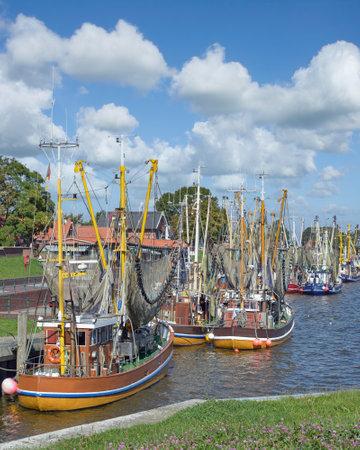 Harbor of Greetsiel at North Sea,East Frisia,lower saxony,Germany