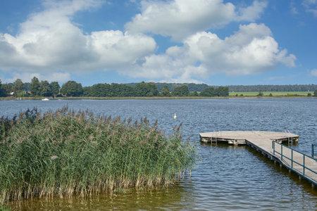 Lake Grosser Priepertsee,Mecklenburg Lake District,Germany Standard-Bild