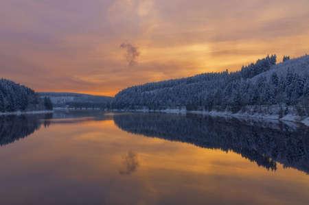 Evening at Okertalsperre Reservoir,Harz Mountain,Germany Standard-Bild
