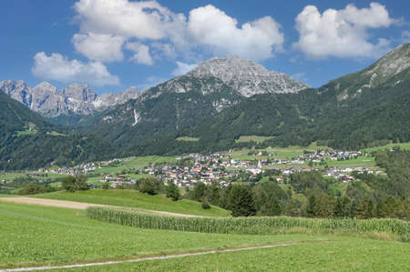Telfes im Stubai,Tirol,Austria Standard-Bild