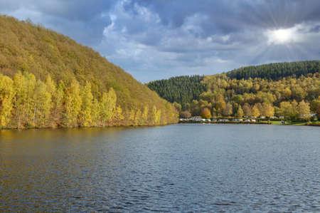 Biggesee Reservoir,Sauerland,Germany Standard-Bild