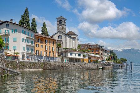 Brissago at Lake Maggiore,Ticino Canton,Switzerland