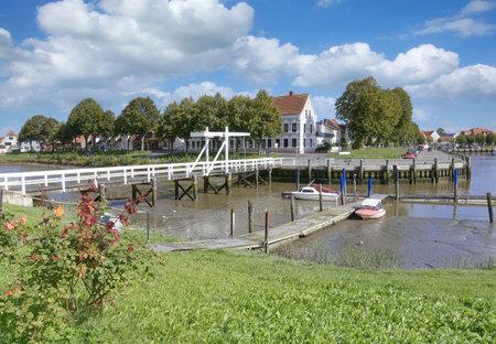 Village of Toenning,North Sea,North Frisia,Germany