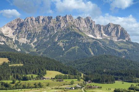 view from Ellmau to Kaisergebirge Mountain,Tirol,Austria