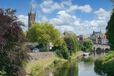 Roermond at Rur River in Limburg Province,Netherlands
