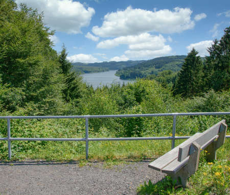 Wiehltalsperre Reservoir in Bergisches Land,Germany