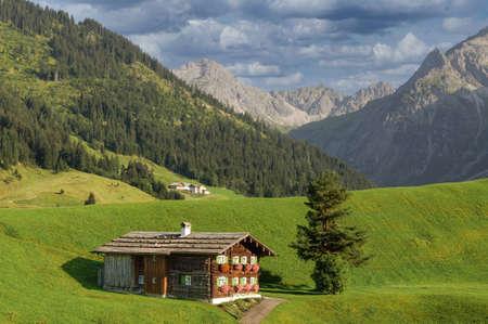Landscape near Village of Mittelberg ,Kleinwalsertal,Vorarlberg,Austria