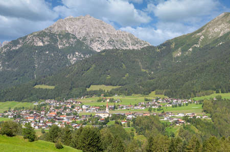 view to Village of Telfes im Stubai,Tirol,Austria