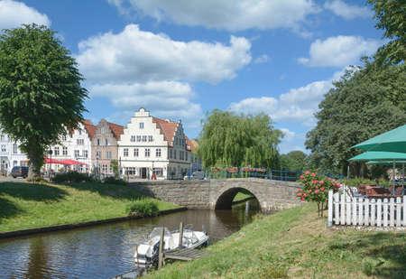 Friedrichstadt in North Frisia,Germany