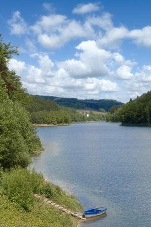 Aggertalsperre Reservoir,Bergisches Land,Germany Standard-Bild