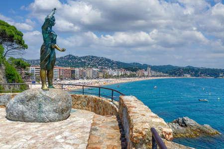 Lloret de Mar,Costa Brava,Catalonia,mediterranean Sea,Spain Standard-Bild