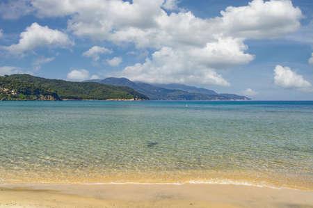 coastal Landscape on Island of Elba,Tuscany,mediteranean Sea,Italy