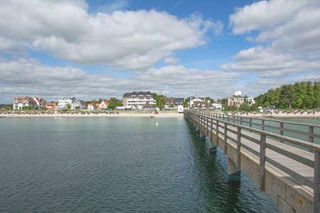 Beach and Village of Haffkrug baltic Sea, Schleswig-Holstein, Germany Standard-Bild