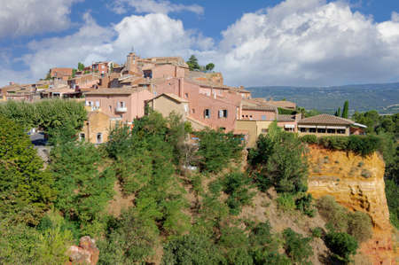 Village of Roussillon (Vaucluse), Provence, France